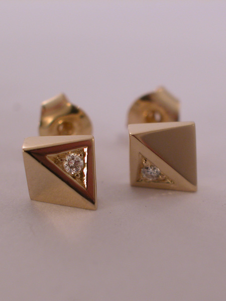 Glimten örhängen guld diamanter