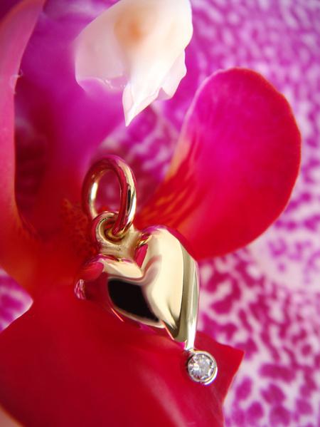 Majahjärtat guld med diamant