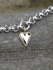 Lilla Mariahjärtat guld silverarmband