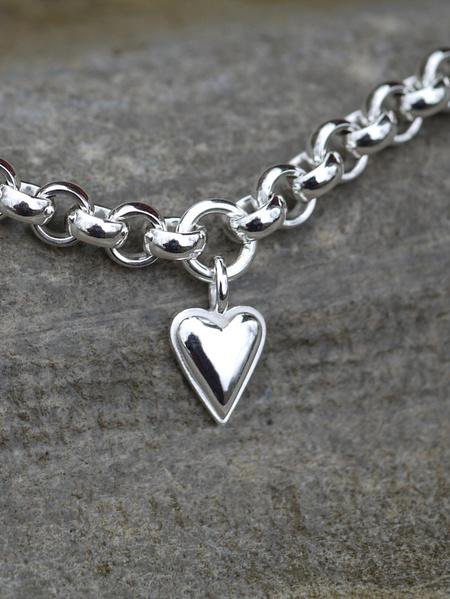Lilla Mariahjärtat silver silverarmband