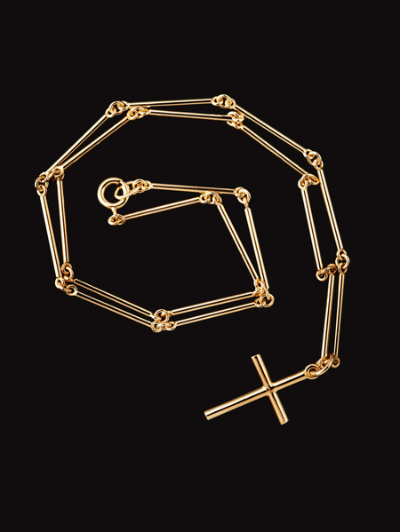 Ebba Dohnas kors och kedja guld