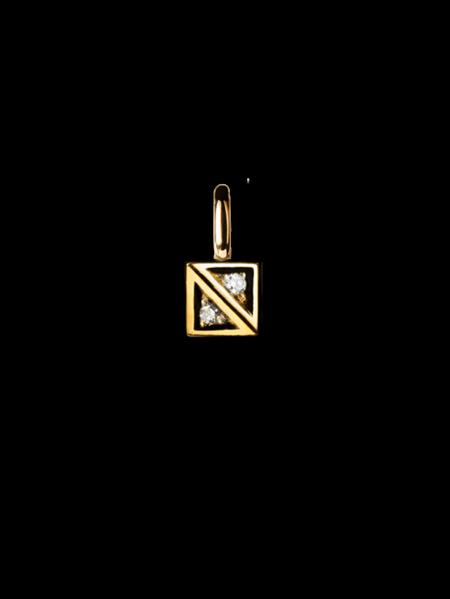 Glimten hängsmycke guld 2 diamanter