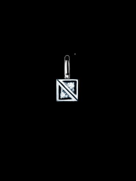 Glimten hängsmycke vitguld 2 diamanter