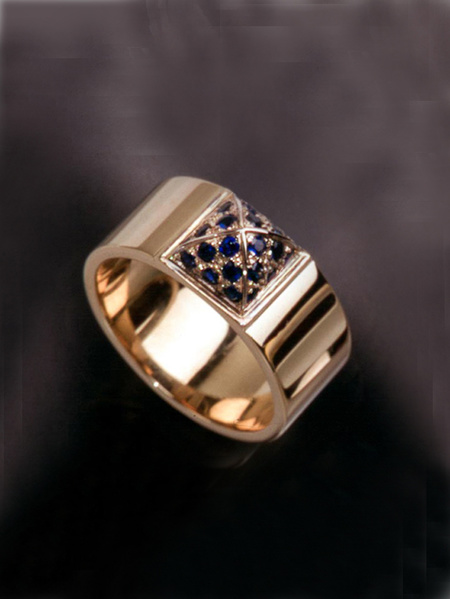 Kajsa ring guld safirer