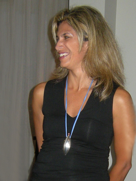 Halssmycke Mandorla silver sidenband